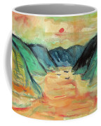 Watercolor River Scenery Coffee Mug