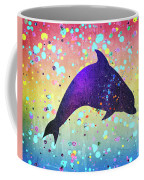 Watercolor Silhouette - Dolphin  Porpoise Coffee Mug