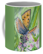 Watercolor - Small Butterfly On A Flower Coffee Mug