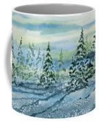 Watercolor - Snowy Winter Evening Coffee Mug