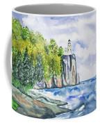Watercolor - Split Rock Lighthouse Coffee Mug