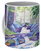 Watercolor - Summer Mountain Forest And Stream Coffee Mug