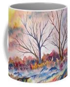 Watercolor - Trees And Woodland Meadow Coffee Mug