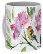 Watercolor - Western Tanager In A Flowering Tree Coffee Mug