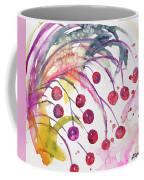 Watercolor - Winter Berry Abstract Coffee Mug