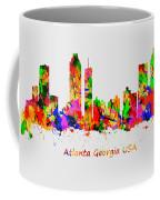 Watercolour Art Print Of The Skyline Of Atlanta Georgia Usa Coffee Mug