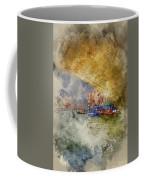 Watercolour Painting Of Low View Through Rialto Bridge Along Gra Coffee Mug