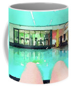 Watercolour Painting Of Relaxation On Holiday Coffee Mug
