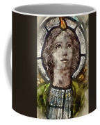 Watercolour Painting Of Stained Glass Religious Window In Church Coffee Mug