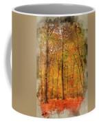 Watercolour Painting Of Vibrant Autumn Fall Forest Landscape Ima Coffee Mug