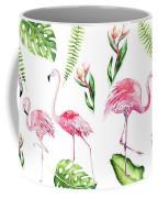 Watercolour Tropical Beauty Flamingo Family Coffee Mug