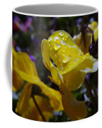Waterdrops On A Pansy Coffee Mug