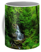 Waterfall And Rhododendron In Bloom Coffee Mug