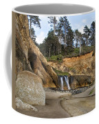 Waterfall At Hug Point State Park Oregon Coffee Mug