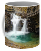 Waterfall At Johnston Canyon Coffee Mug