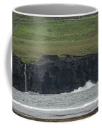 Waterfall At The Cliffs Of Moher Coffee Mug