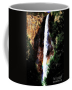 Waterfall At Yosemite Coffee Mug