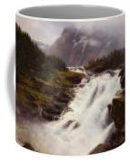Waterfall In Norweigian Mountain Landscape Coffee Mug