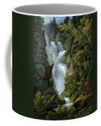 Waterfall In The Bern Highlands Coffee Mug by Joseph Anton Koch