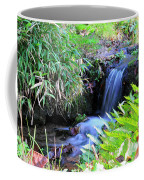 Waterfall In The Fern Garden Coffee Mug