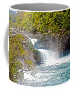 Waterfall In Vicente Perez Rosales National Park Near Puerto Montt-chile  Coffee Mug