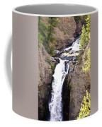 Waterfall In Yellowstone Coffee Mug