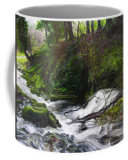 Waterfall Near Tallybont-on-usk Wales Coffee Mug