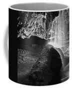 Waterfall Of The Caverns Black And White Coffee Mug
