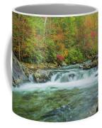 Waterfall On Little Pigeon River Smoky Mountains Coffee Mug