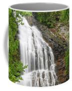 Waterfall With Green Leaves Coffee Mug