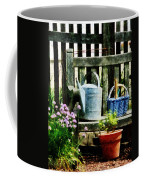 Watering Can And Blue Basket Coffee Mug