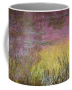 Waterlilies At Sunset Coffee Mug by Claude Monet
