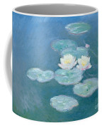 Waterlilies Evening Coffee Mug by Claude Monet