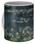 Waterlilies Green Reflections Coffee Mug by Claude Monet