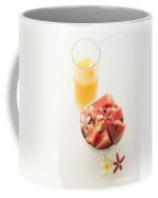 Watermelon And Banana Fruit Salad With Orange Juice Coffee Mug