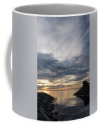 Waterscape In Gray And Yellow Coffee Mug