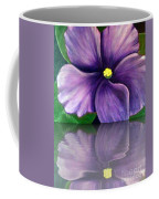 Watery African Violet Reflection Coffee Mug