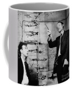 Watson And Crick Coffee Mug by A Barrington Brown and Photo Researchers