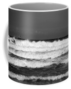 Waves 1 In Bw Coffee Mug