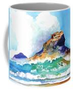 Waves Bursting On Rocks Coffee Mug