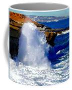 Waves Crashing On The Rocks Coffee Mug