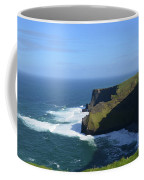 Waves From Galway Bay Crashing Against The Cliff's Of Moher Coffee Mug