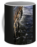 Waves Hitting Santa Monica Pier Coffee Mug