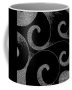 Waves Inverted In Black And White Coffee Mug