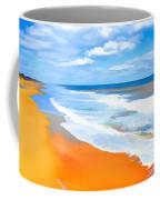 Waves Lapping On Beach 8 Coffee Mug