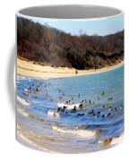 Waves Of Ducks Coffee Mug