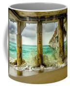 Waves Smash Into The Pier Coffee Mug
