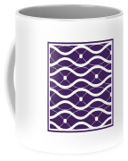 Waves With Border In Purple Coffee Mug