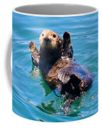 Waving Otter Coffee Mug
