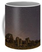 Waxing Moon Above The City Of Rocks Coffee Mug